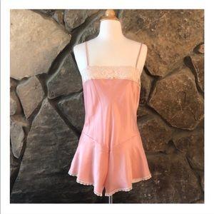 Adorable Vintage Pink Teddy, Romper, Med